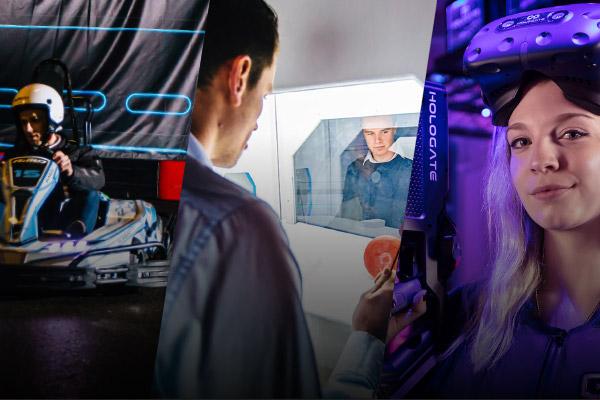 karten, escape room en virtual reality