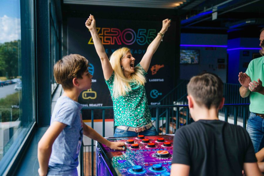 Arcade Game Catch the Light bij ZERO55 Apeldoorn