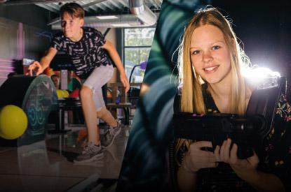 Combideal lasergamen en bowlen bij ZERO55 in Apeldoorn