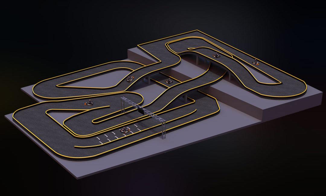 ZERO55 3d kartbaan