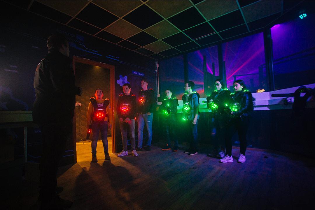 Lasertag bij ZERO55 in Enschede